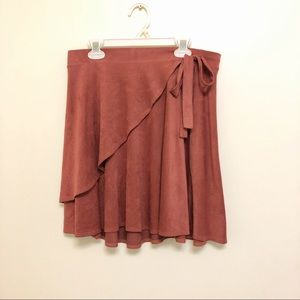 Charlotte Russe faux suede mini skirt pink